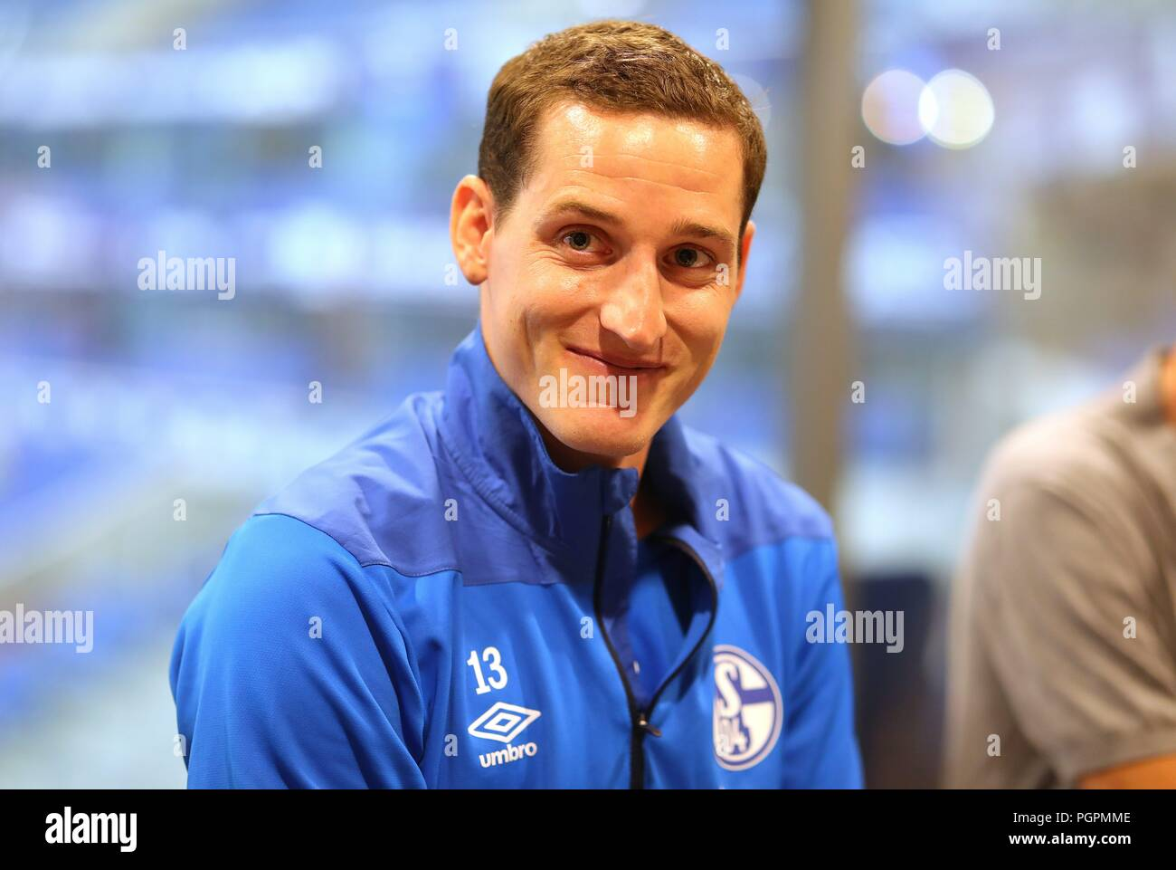firo: 28.08.2018, Football, 1.Bundesliga, Season 2018/2019, FC Schalke 04, Training, Sebastian RUDY, Portrait | - Stock Image