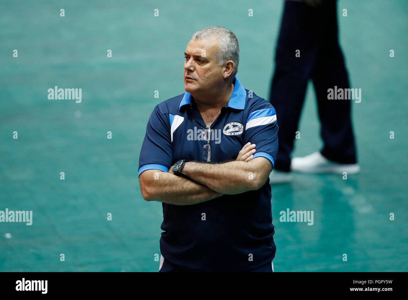 689b26dde Guatemala's coach Reider Lucas look on during a Men's Panamerican Cup match  played between Mexico and Guatemala, in Cordoba, Mexico, 28 August 2018.