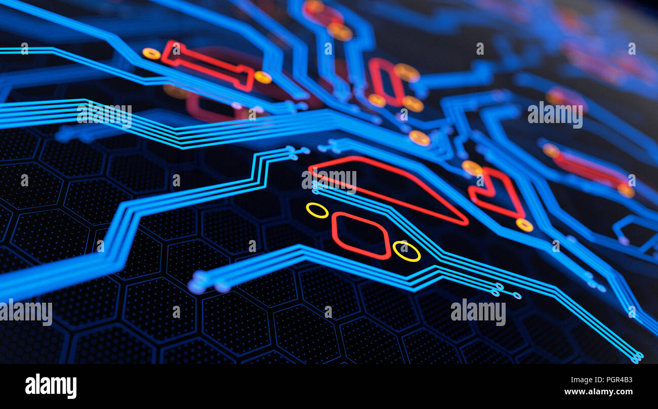 Abstract Circuit Board Background By Silvertiger: Digital Circuit Board Abstract Background. 3D Illustration