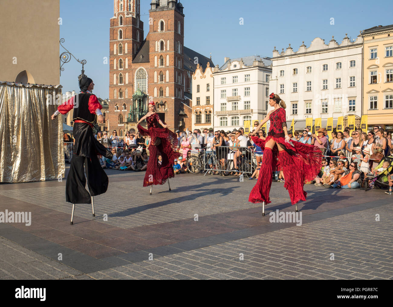 Cracow, Poland - July 5, 2018: Performance of Dance Pageant performed byThe Kiev street Theatre Highlights at 31th Street - International Festival of  - Stock Image