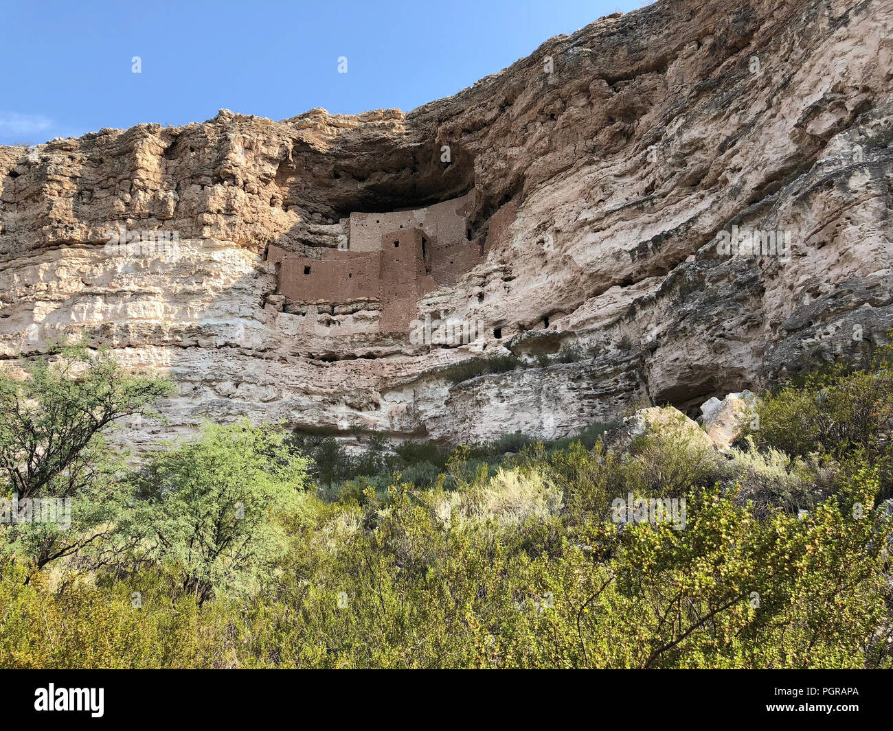 Montezuma Castle National Monument cliff dwelling Stock Photo