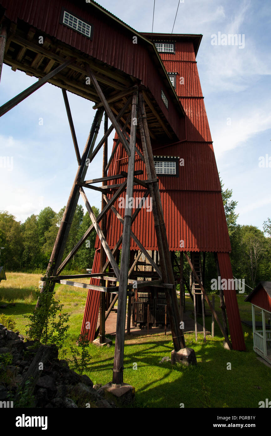 abandoned mine in sweden - Stock Image
