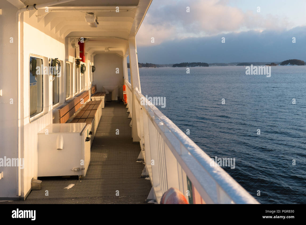 ferry in skerry landscape - Stock Image