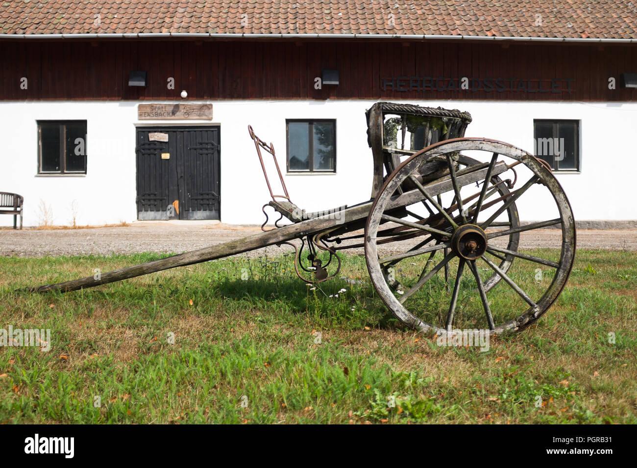 swedish farm - Stock Image
