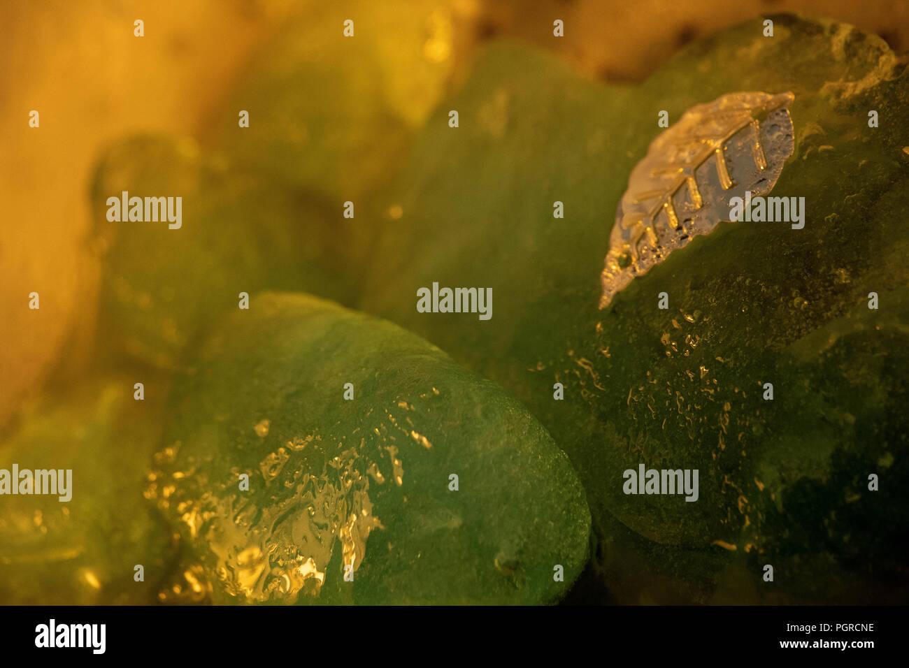 Kiwi Times - Abstract Ice Photography - Stock Image