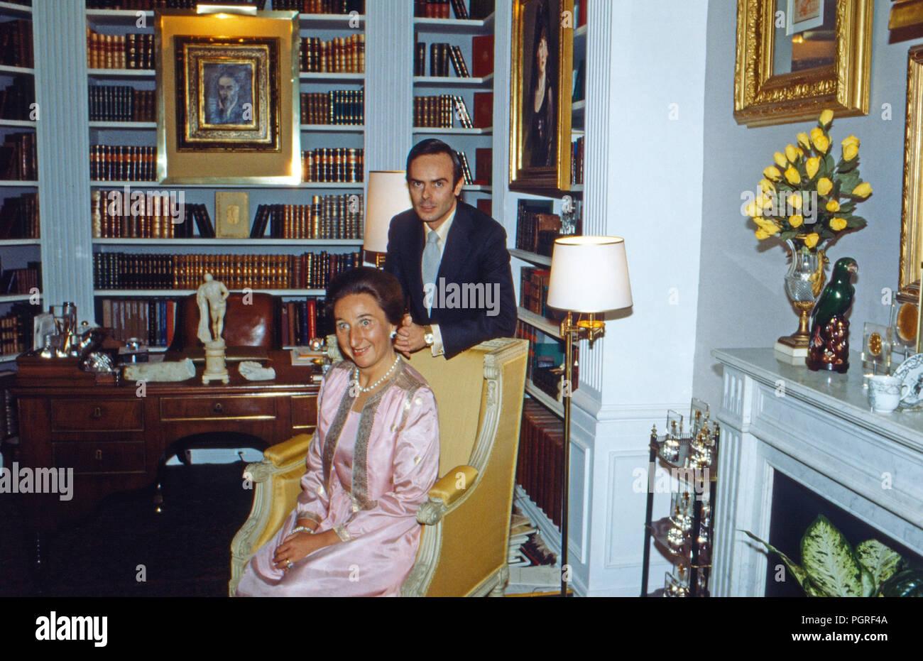 Margarita de Borbon mit Ehemann Don Carlos Zurita y Delgado in Madrid, Spanien 1978. Margarita de Borbon with husband Don Carlos Zurita y Delgado at Madrid, Spain 1978. - Stock Image