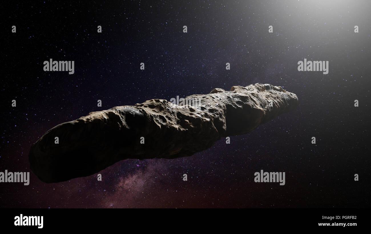 Oumuamua comet, interstellar object passing through the