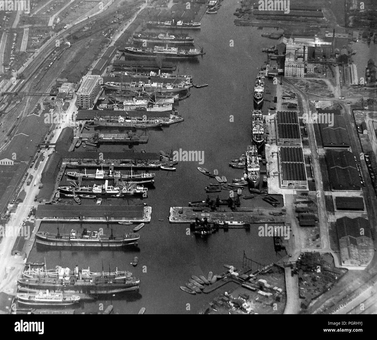 Victoria Dock, London, early 1900s - Stock Image