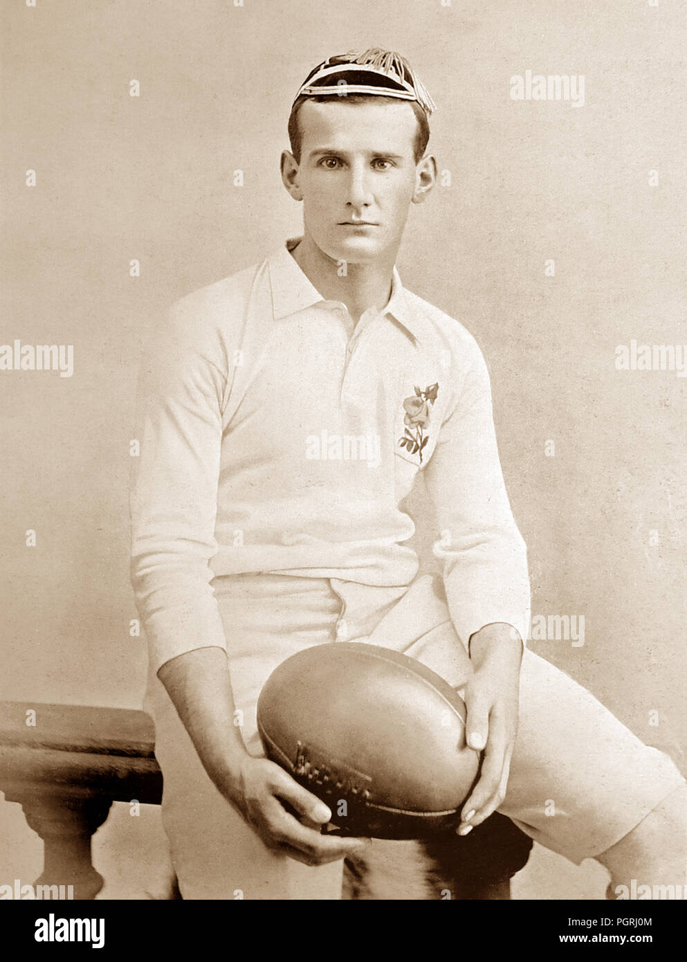 Edwin Field, rugby player, Victorian period - Stock Image