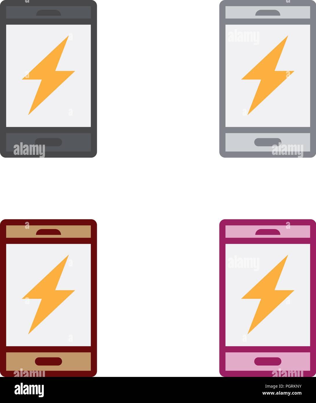 Charging smartphone - Stock Vector