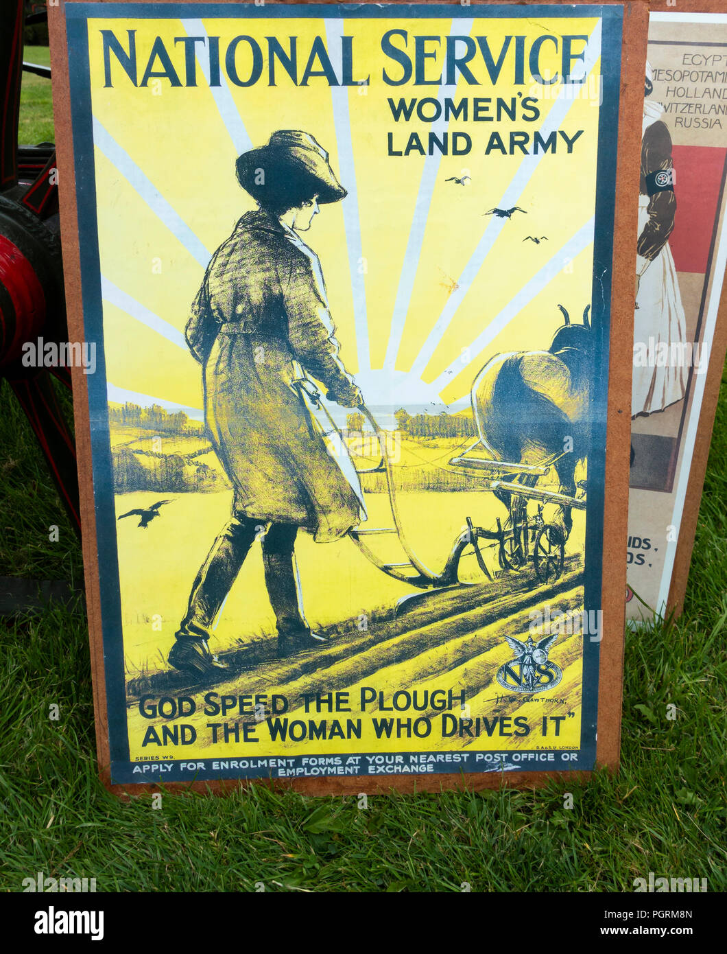National Service women`s land Army vintage poster - Stock Image