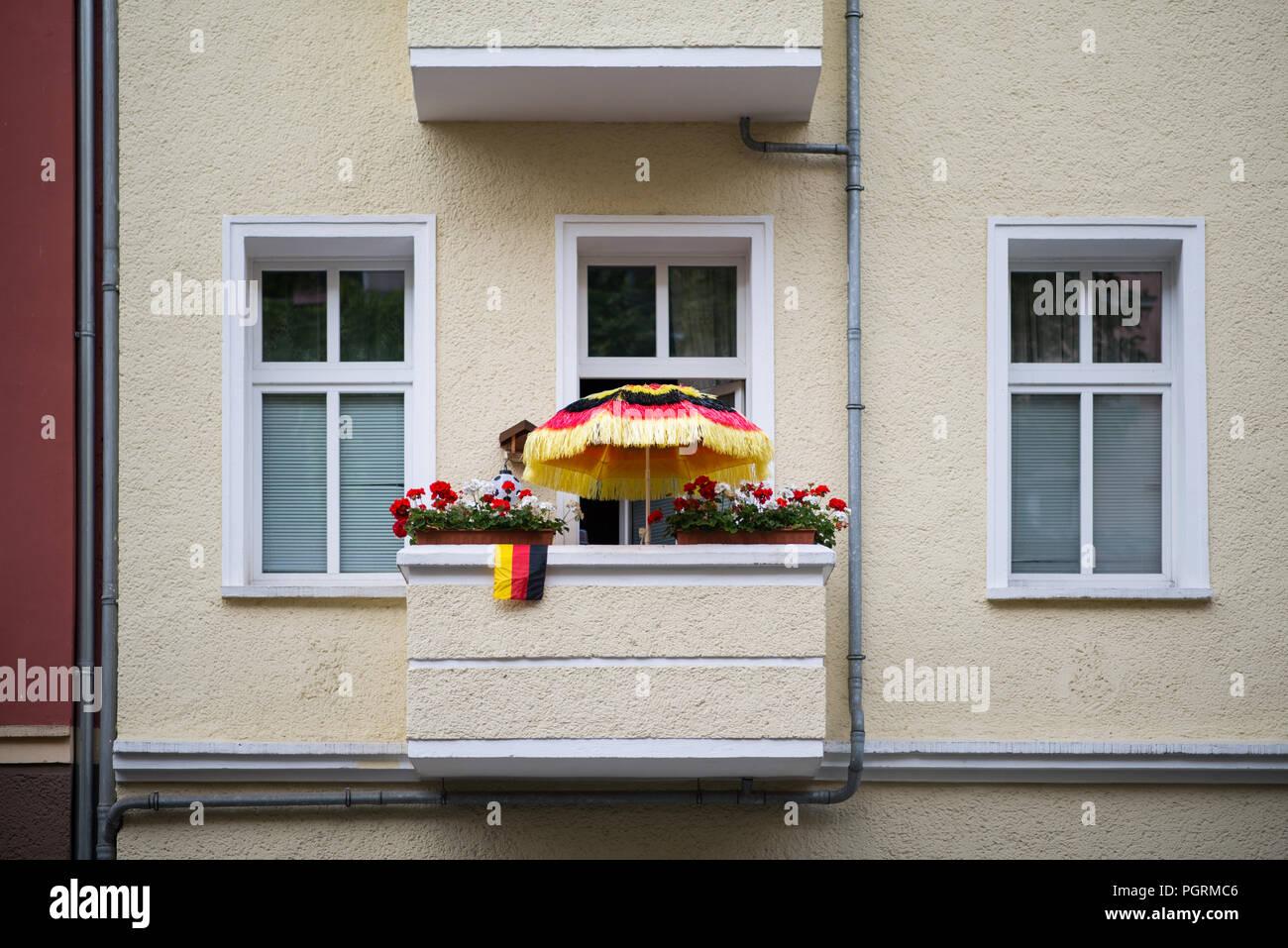 Balkon Deutschland Fußball Weltmeisterschaft - Stock Image