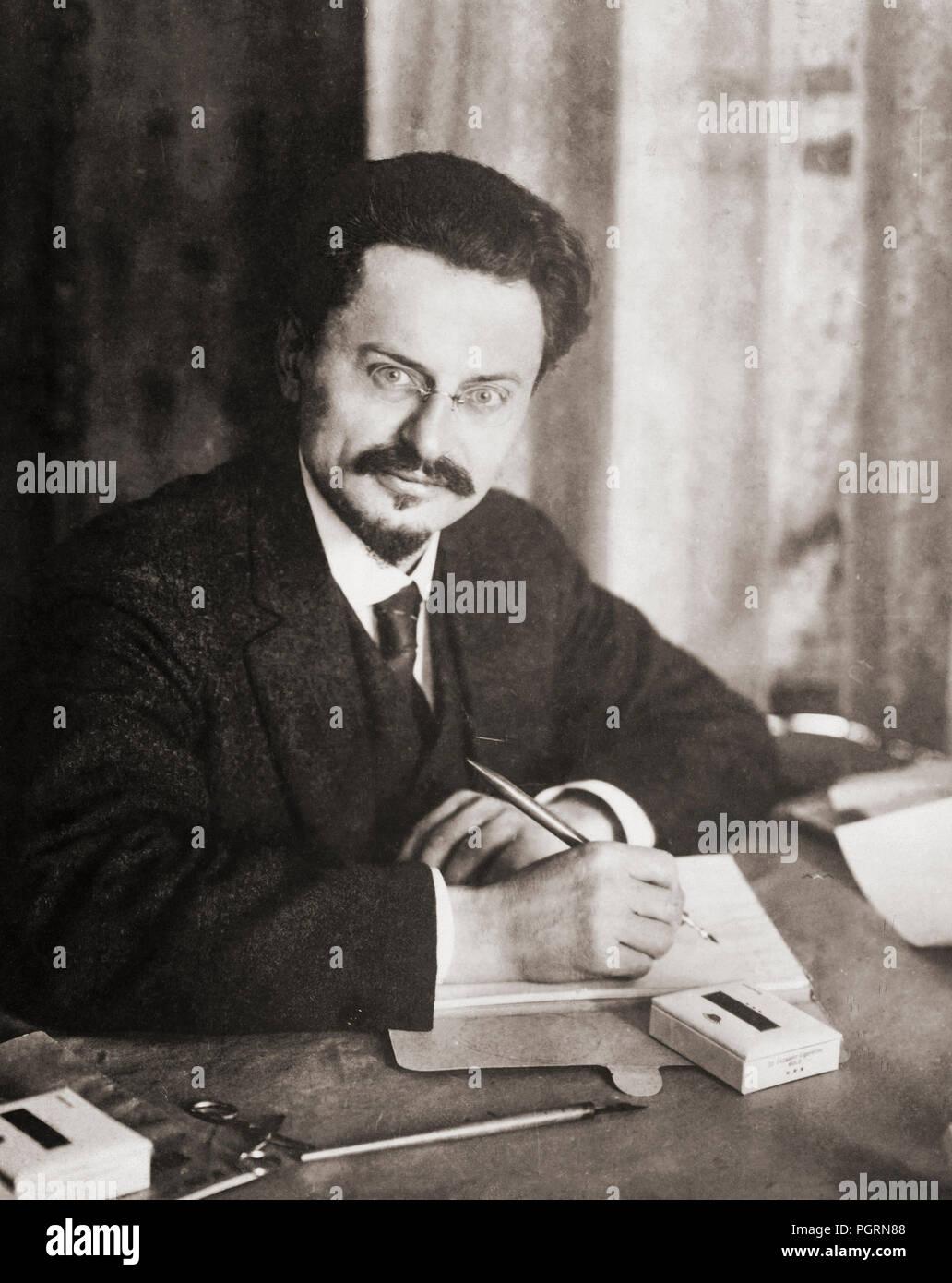 Leon Trotsky, born Lev Davidovich Bronstein, 1879-1940.  Russian politician and revolutionary. - Stock Image