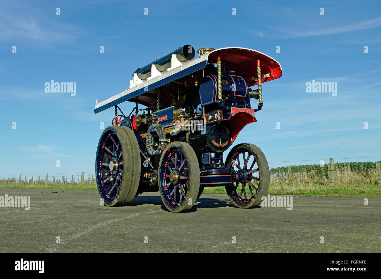 Fowler B6 Showmans Engine model 6 inch scale - Stock Image