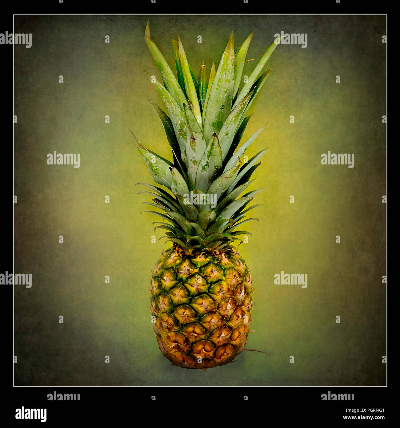 Picture of a pineapple - Stock Image