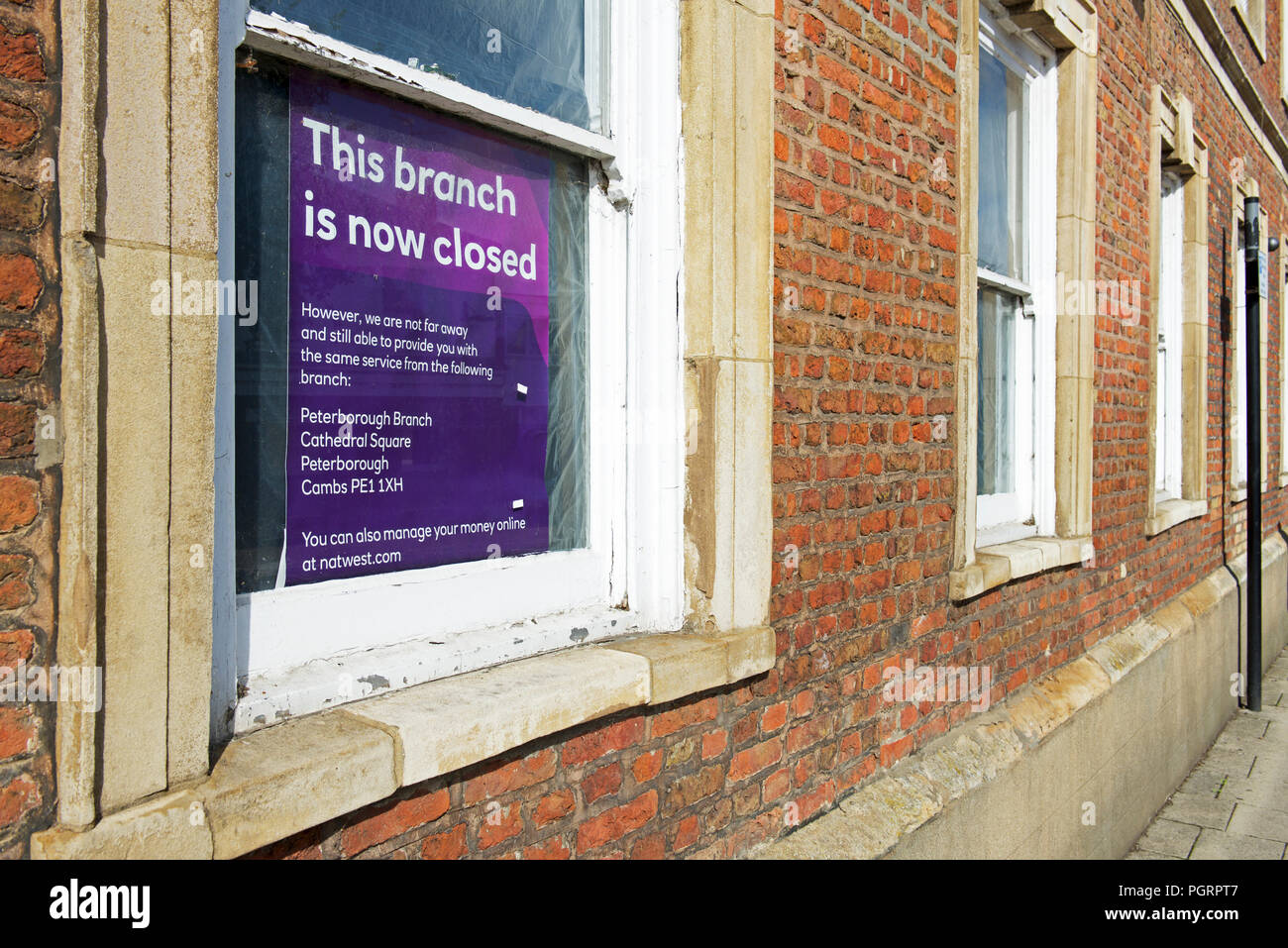 Bank closed, Whittlesey, Cambridgeshire,England UK Stock Photo