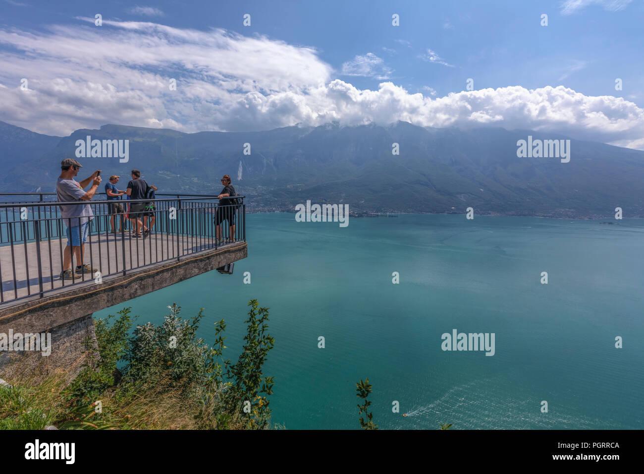 Tremosine Lake Garda Lombardy Italy Europe Stock Photo