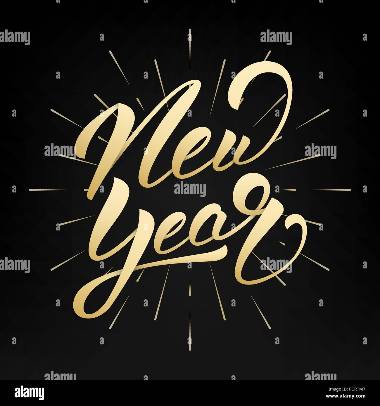 new year happy new year 2019 gold hand lettering label hand drawn logo for new year card poster design etc