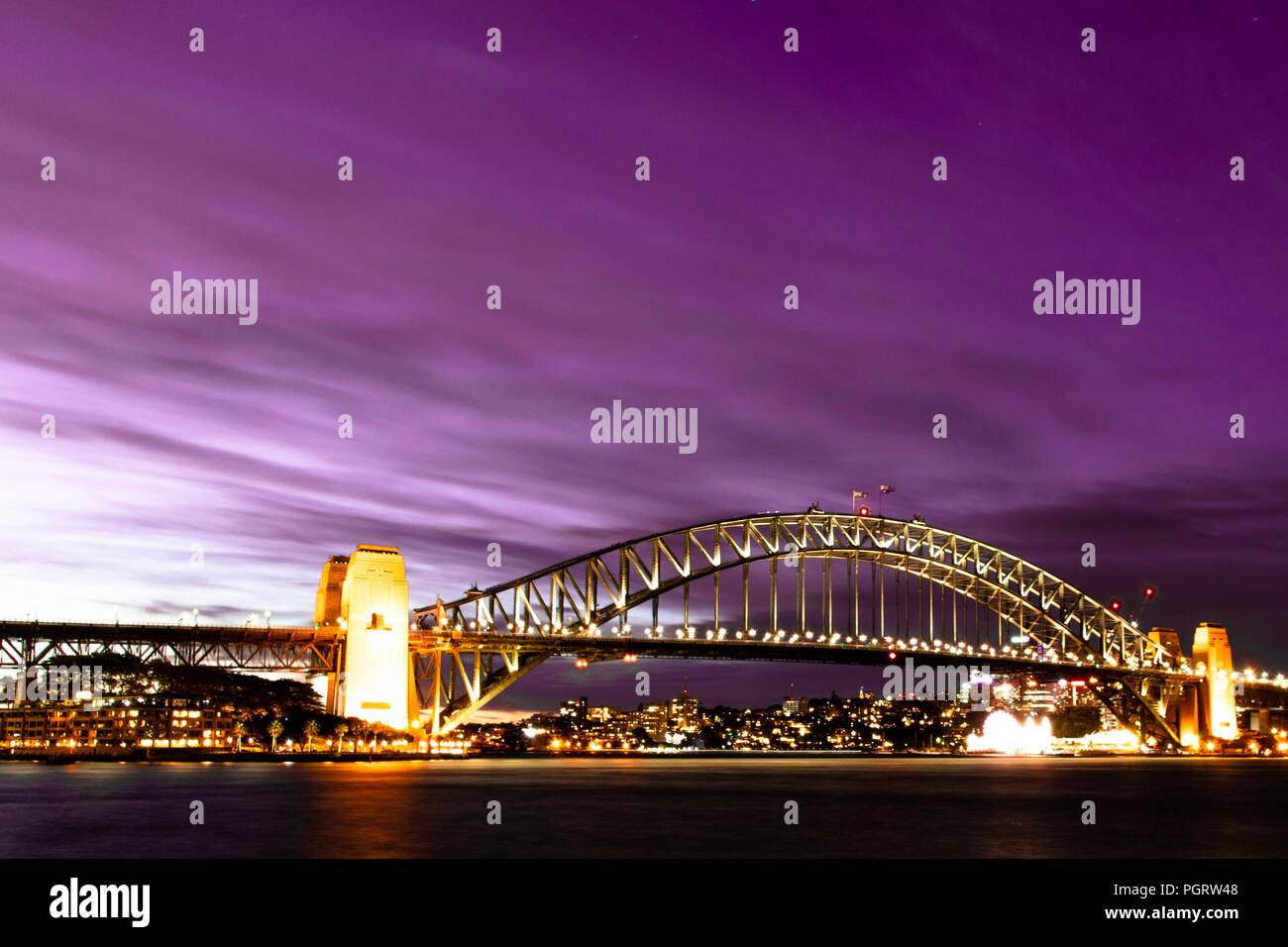 Sydney, Harbour Bridge Stock Photo
