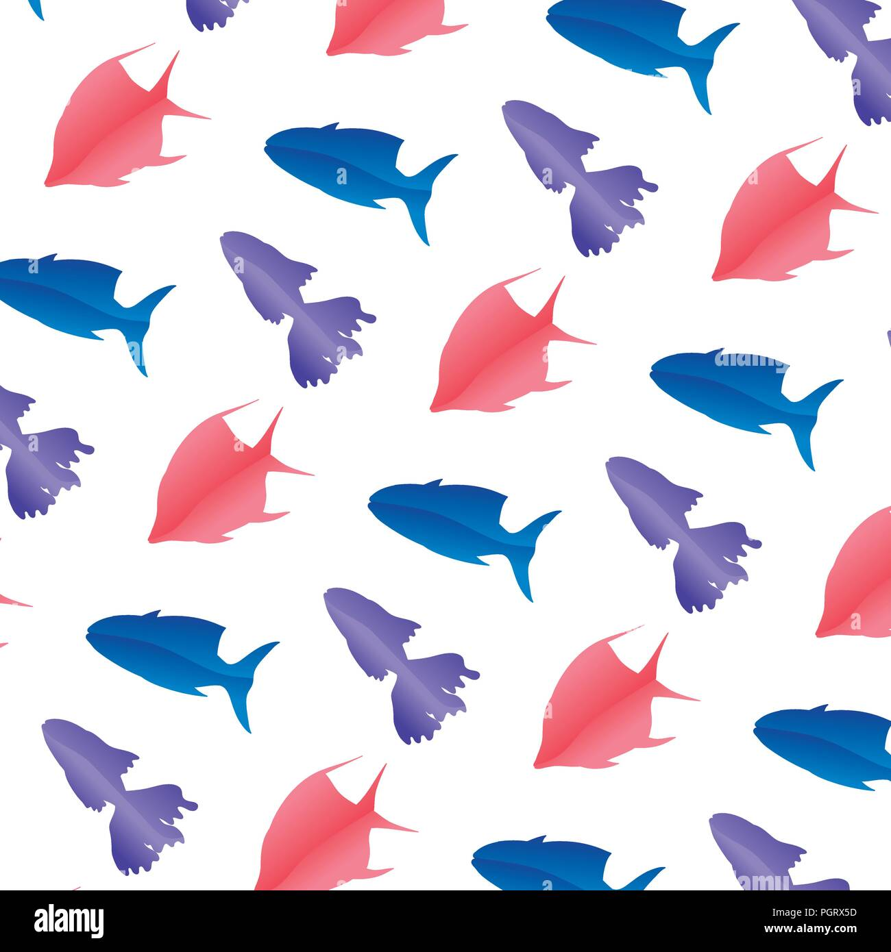 tropical fishes nature animals background - Stock Vector
