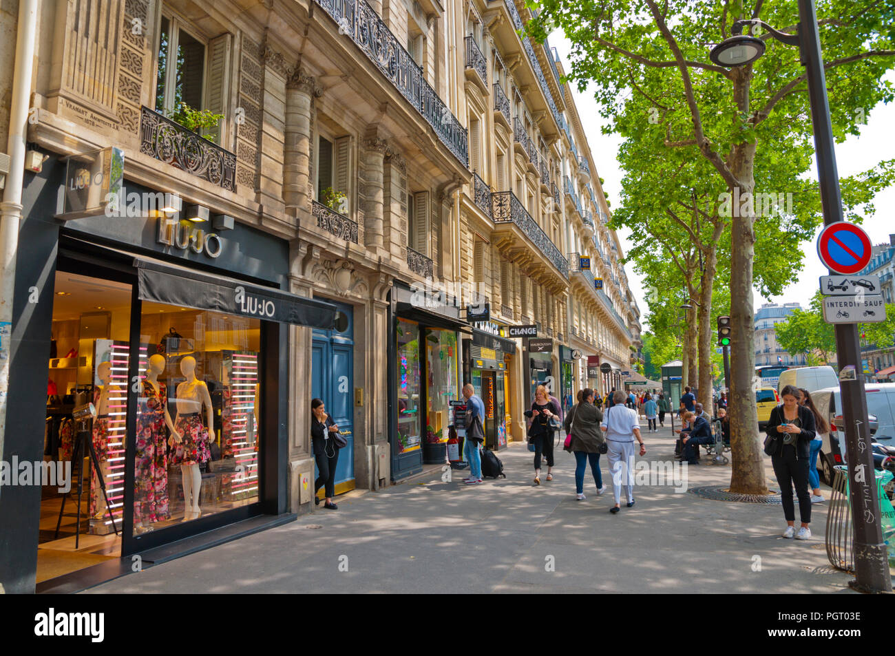 Boulevard Saint Germain, St Germain des Pres, Left Bank, Paris, France - Stock Image