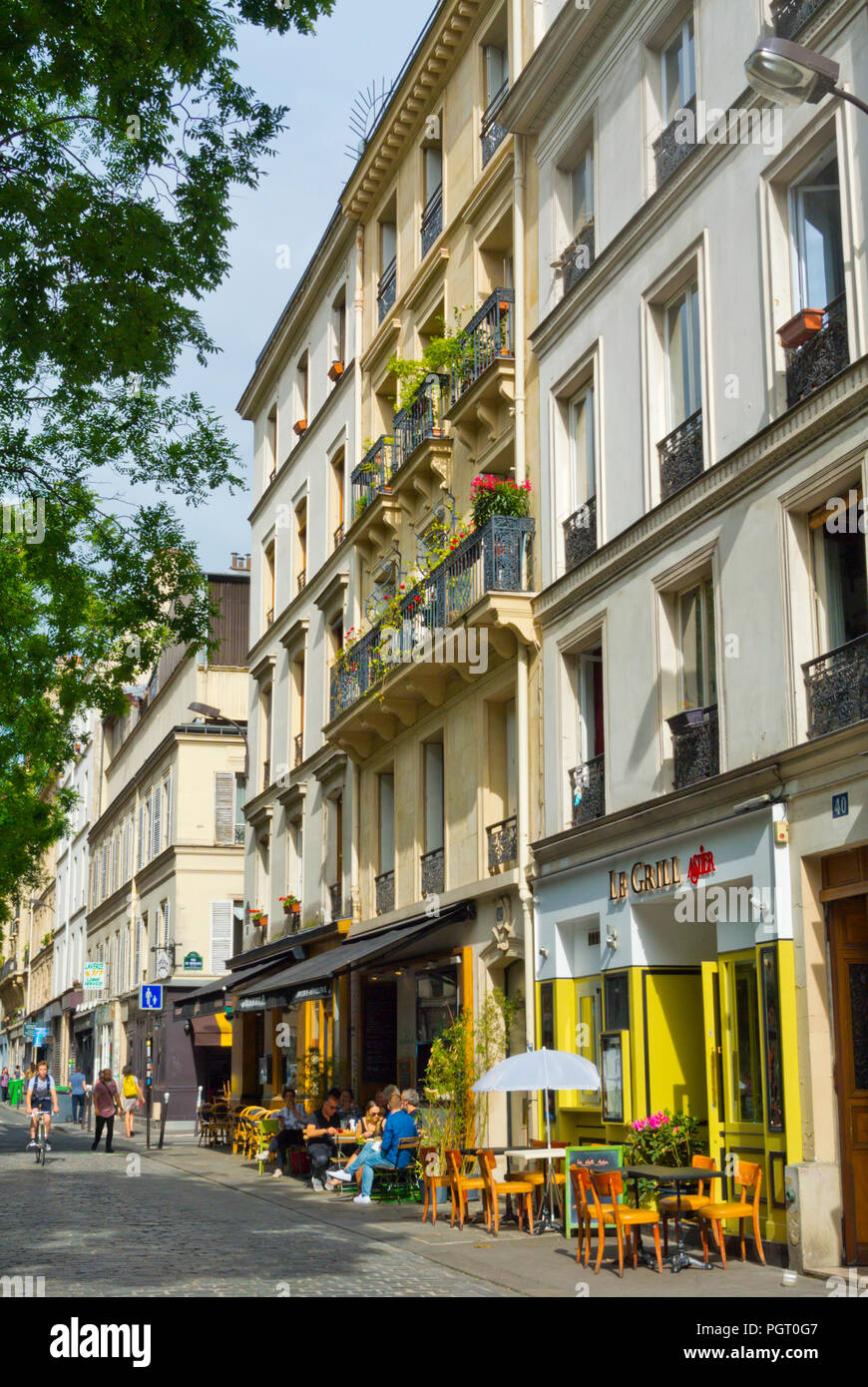 Rue Jean-Pierre Timbaud, Oberkampf, Paris, France - Stock Image