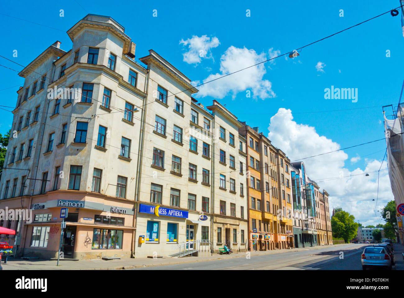 Slokas iela, Kalnciema kvartals, Riga, Latvia - Stock Image