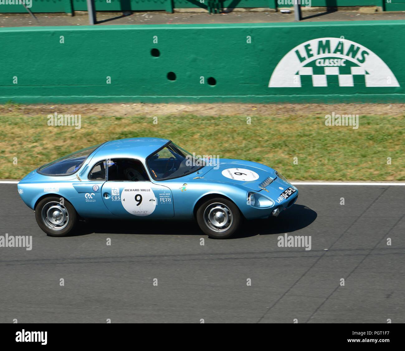 Antoine Laureau, Antoine Moreau, J Laureau, Rene Bonnet Aerodjet, Plateau  4, Grid 4, 1962 to 1965 cars, Le Mans Classic 2018, July 2018, Le Mans, Fra 5056d371908