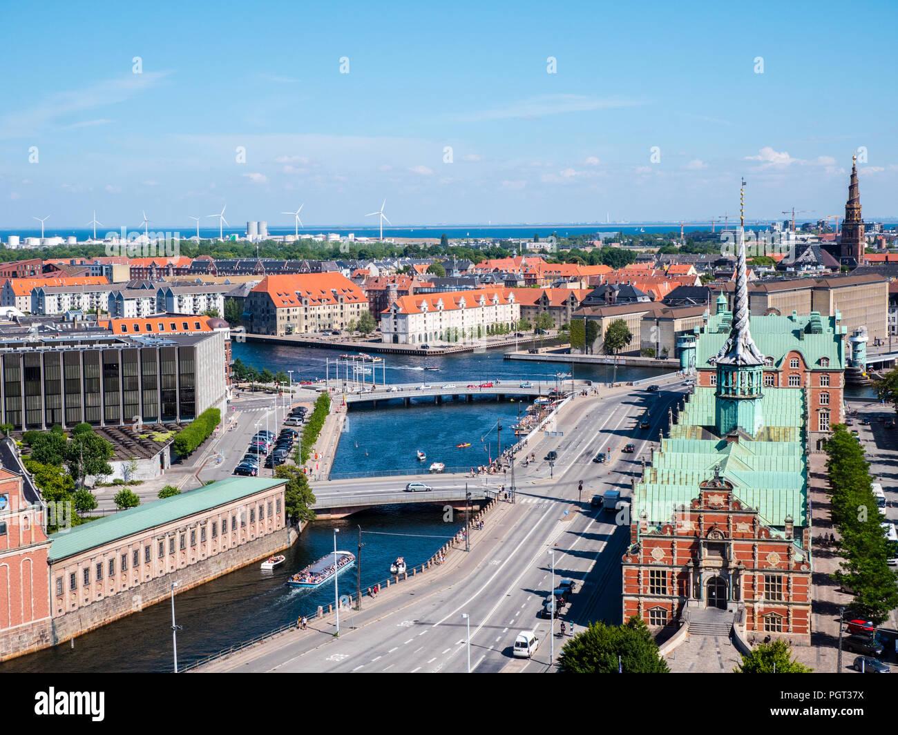 Børsen, The Old Stock Exchange, Slotsholmen, Copenhagen, Zealand, Denmark, Europe. - Stock Image