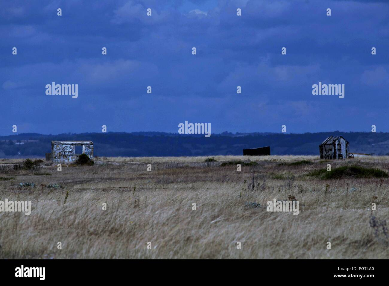 Travel & Tourism - Wild Locations - Go West Series. Remote isolation &  beauty in one of Britain's best Wild Places,Dungeness, UK. - Stock Image