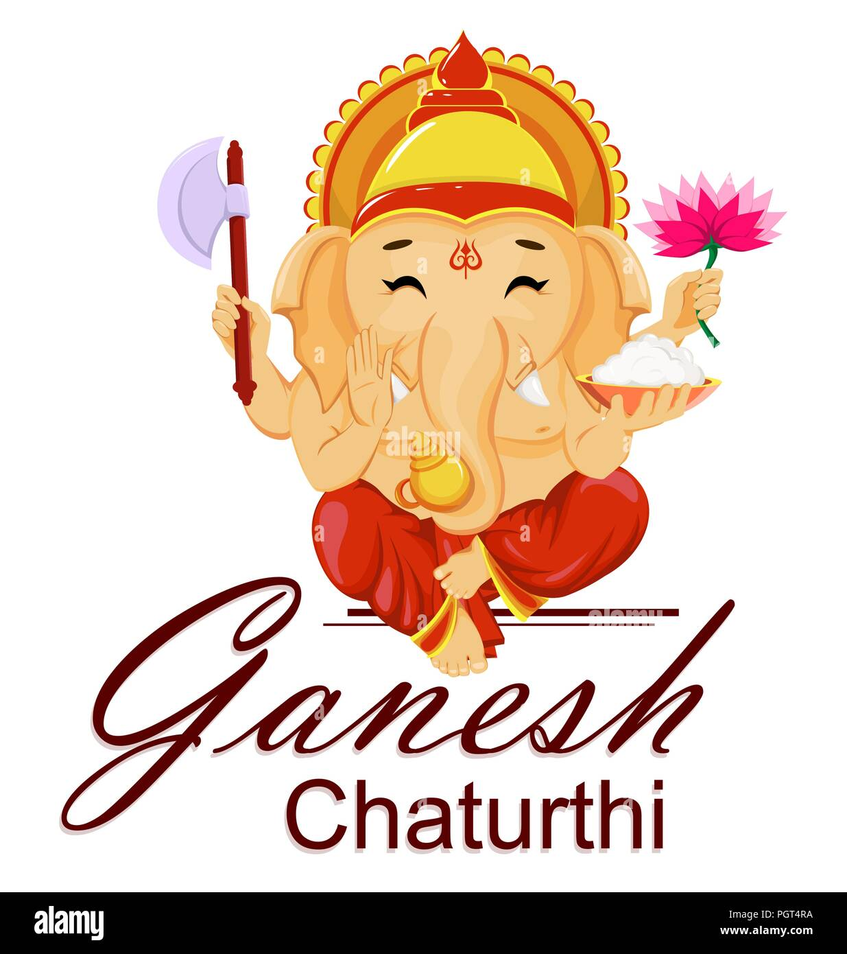 Lord Ganesha Lotus High Resolution Stock Photography And Images Alamy