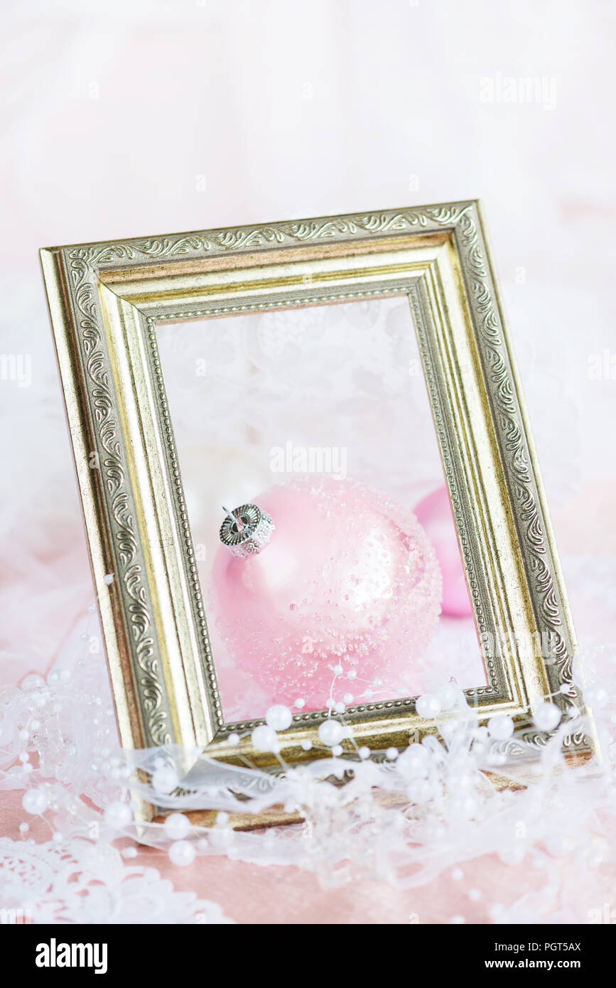 Beautiful Christmas Decoration Large Pink Christmas Ball With A