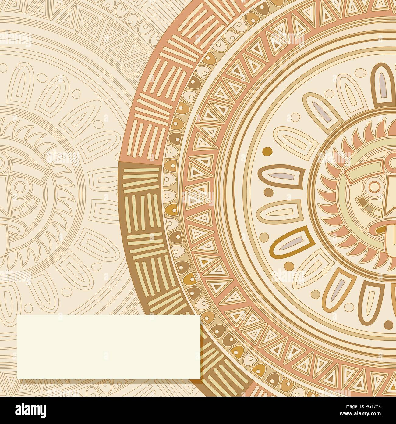 Invitation text card vector template with mayan sun symbol stock invitation text card vector template with mayan sun symbol stopboris Image collections