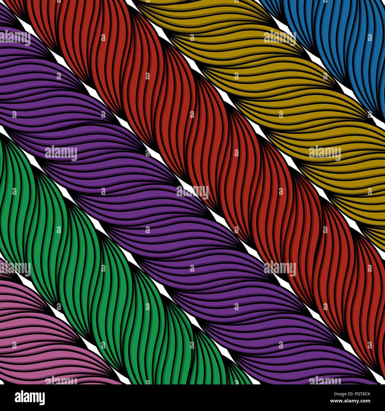 Wool textile background in colors - Stock Vector