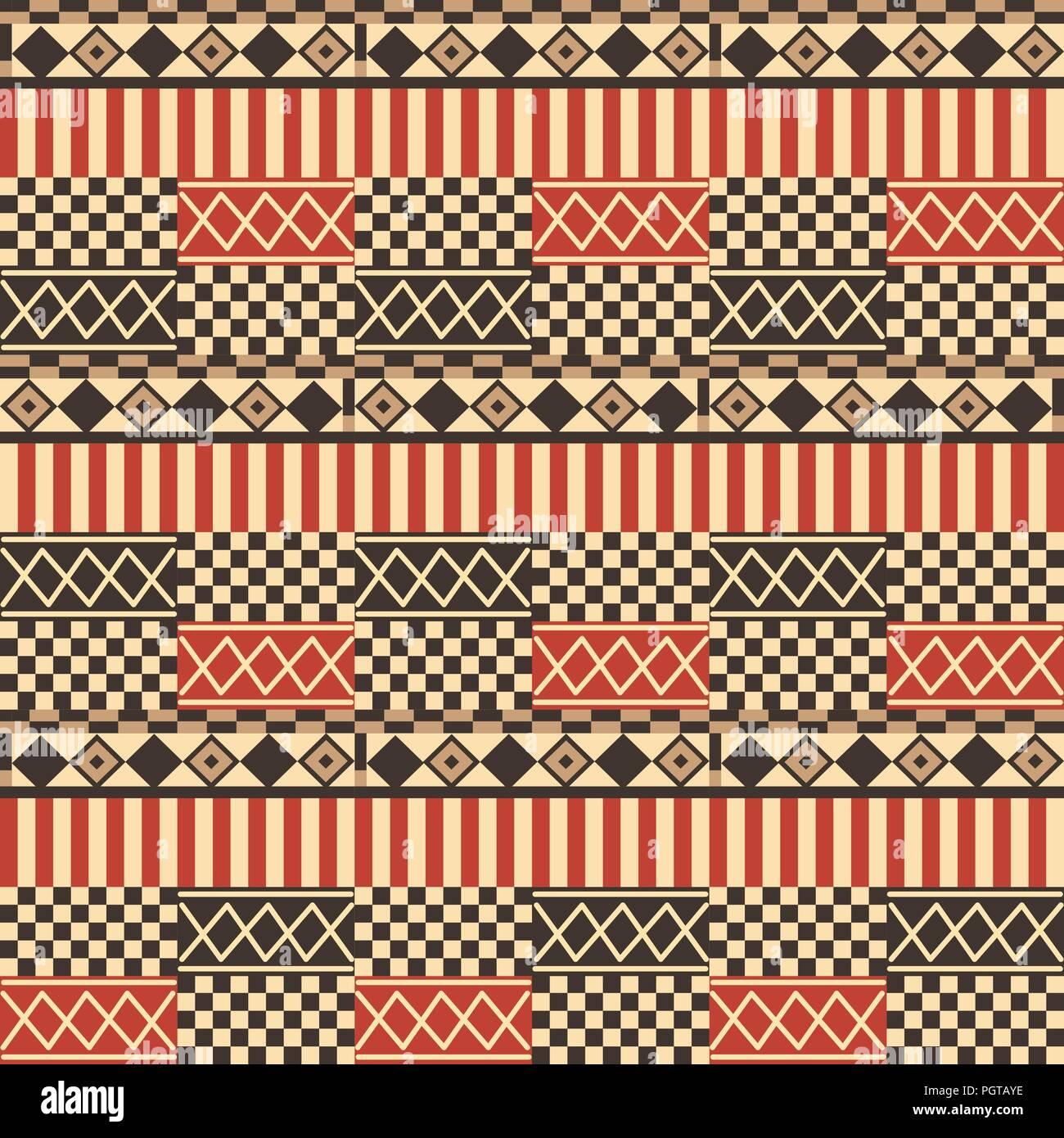 Ethno Pattern Tribal Muster Muster Malen Musterkunst