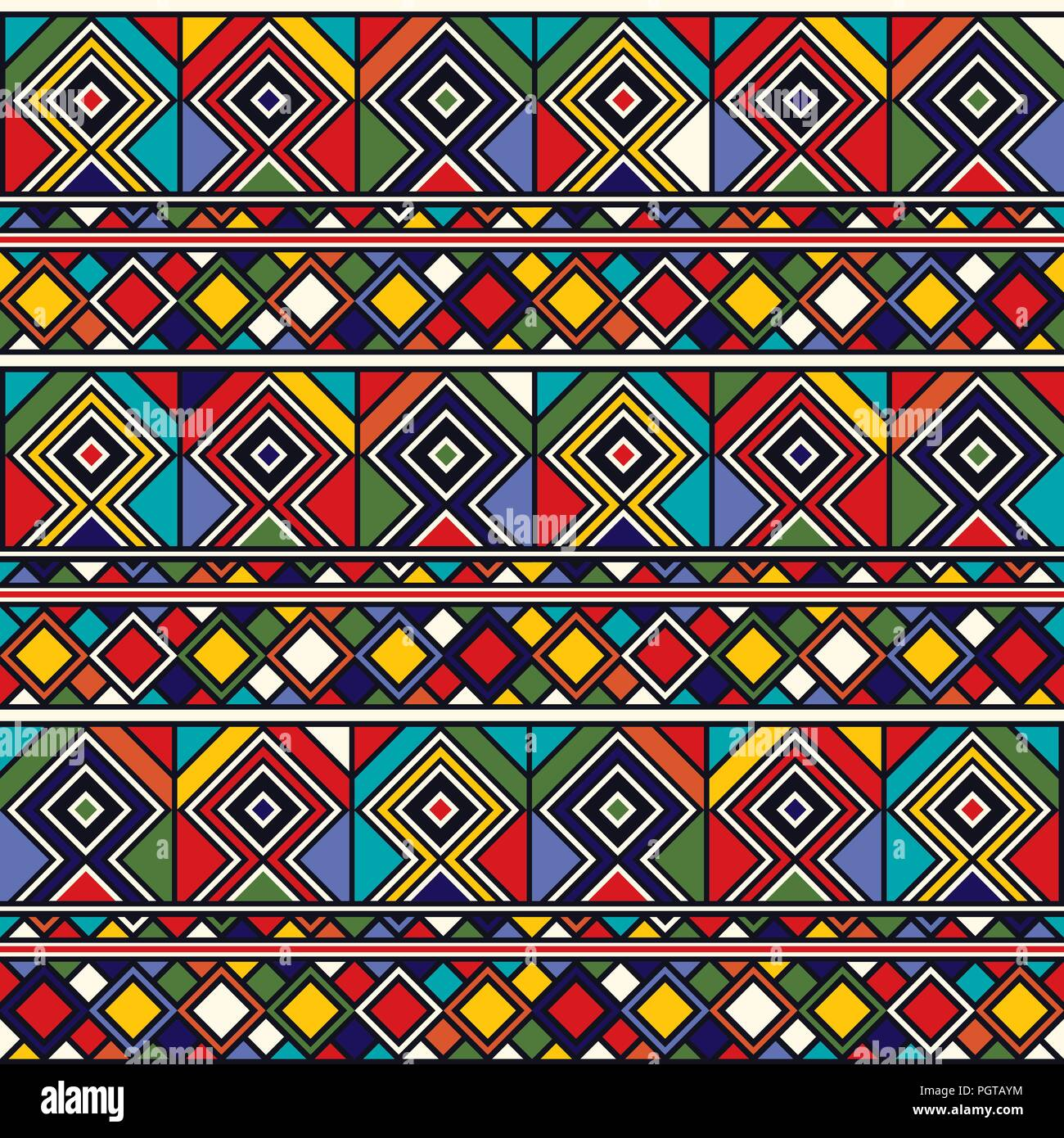 Stoff Afrikanisch Ethno Muster Baumwollstoff 10