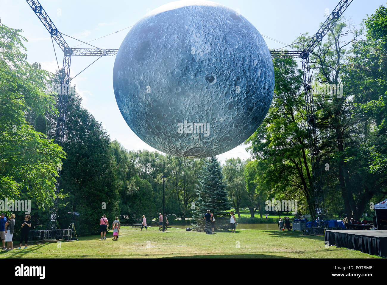 The Museum of the Moon in Stratford,Ontario,Canada,Stratford Festival,Festival Theatre, - Stock Image