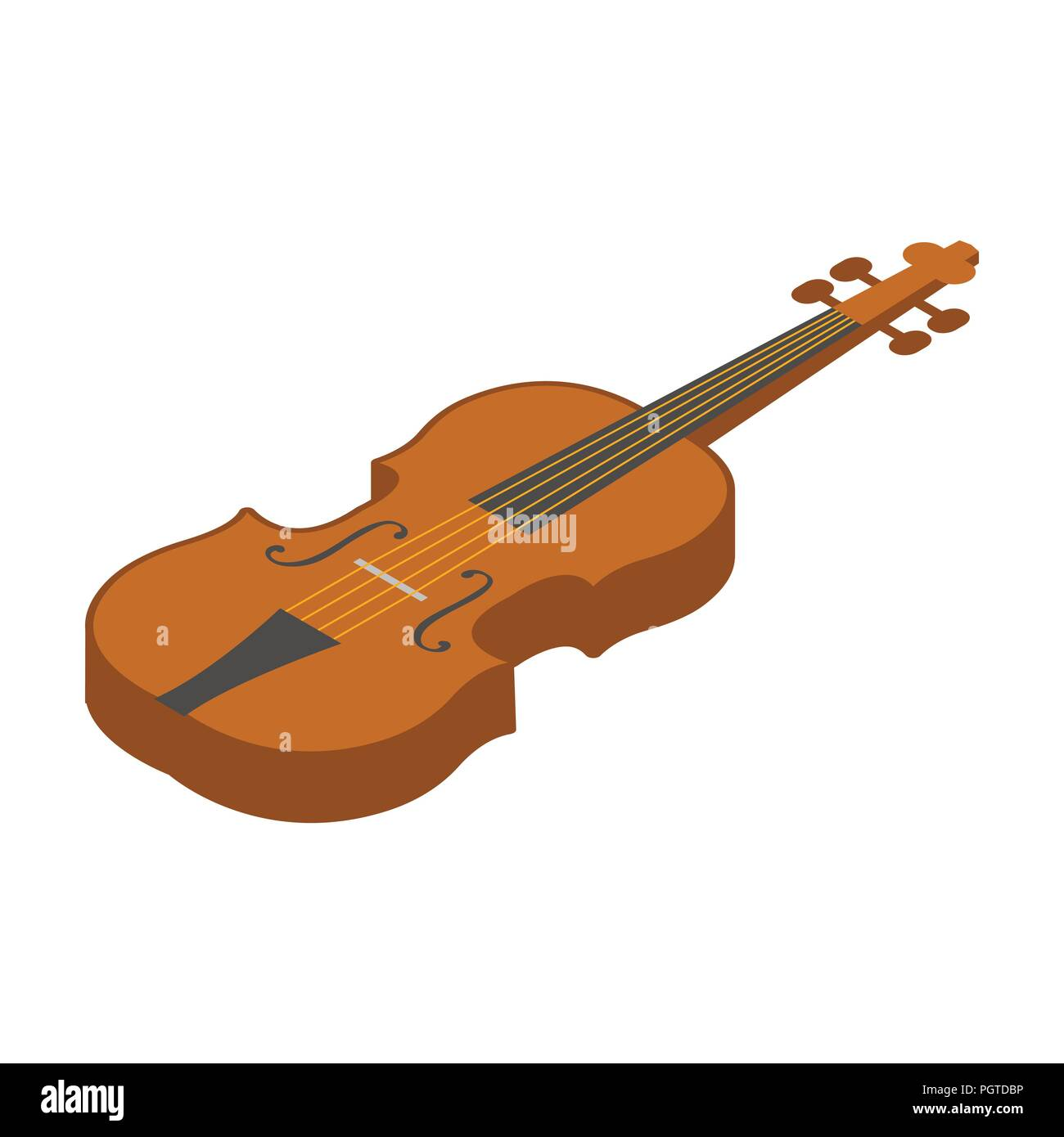 Violin Icon In Cartoon Design Isolated On White Background Musical