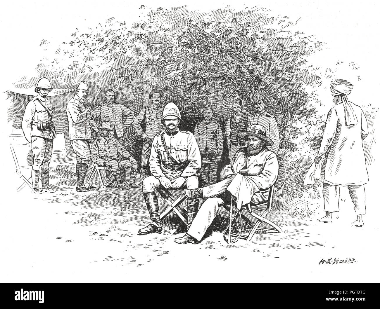 General Cronje, held prisoner after defeat at at the Battle of Paardeberg, 27 February 1900 - Stock Image