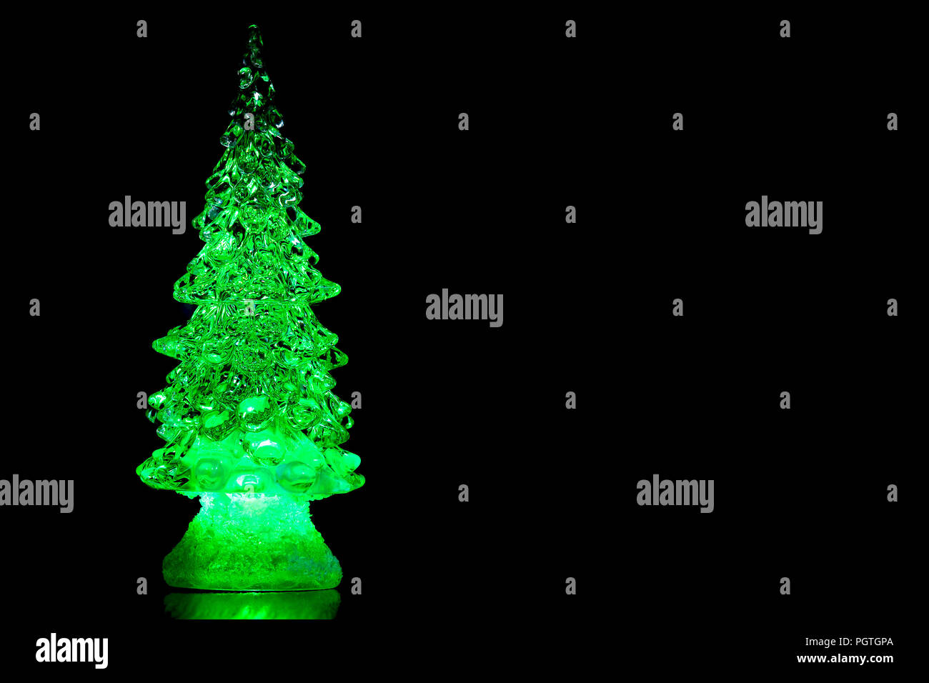 New Years Collage Colored Glass Christmas Trees Abstraction Neon