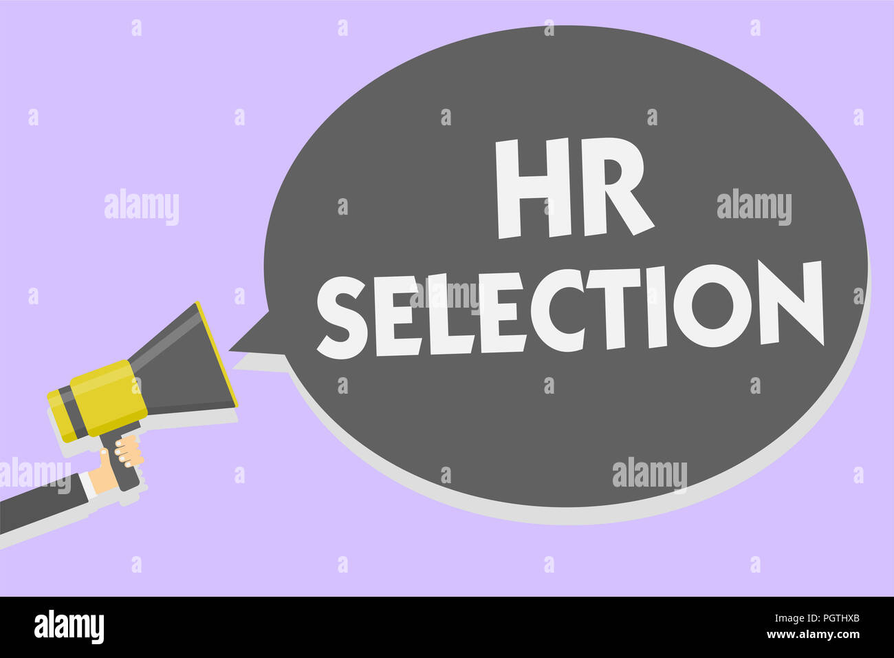 Conceptual hand writing showing Hr Selection  Business photo