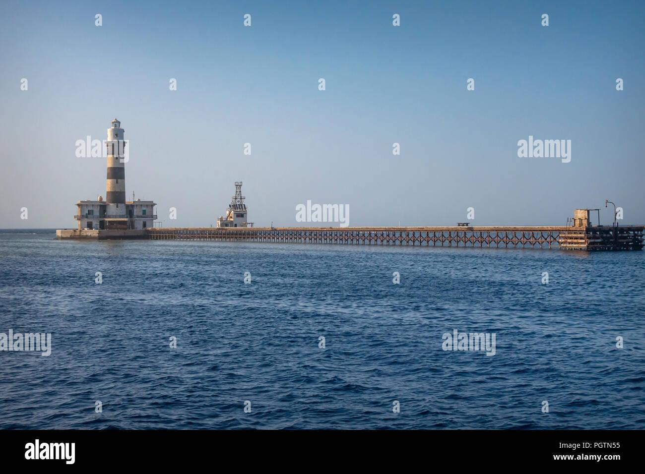 Daedalus Reef Light House - Stock Image