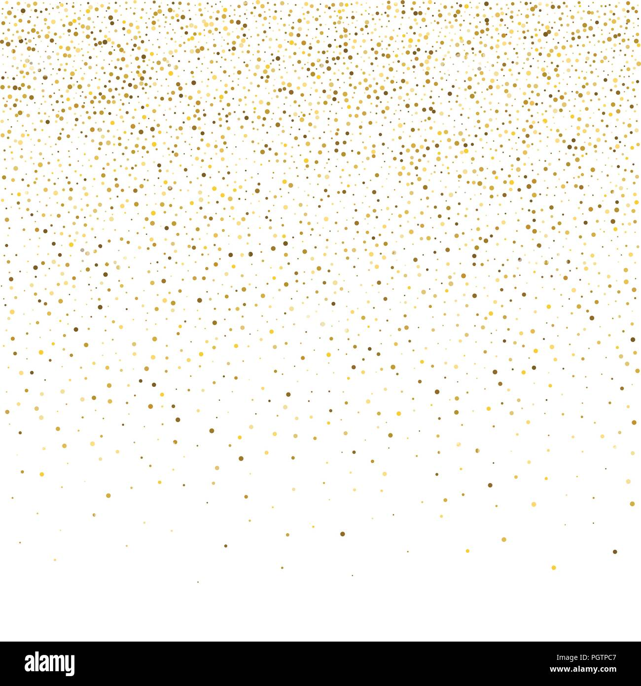 vector glitter background cute small falling golden dots sparkle background glitter sparkle confetti texture new year celebration invitation card