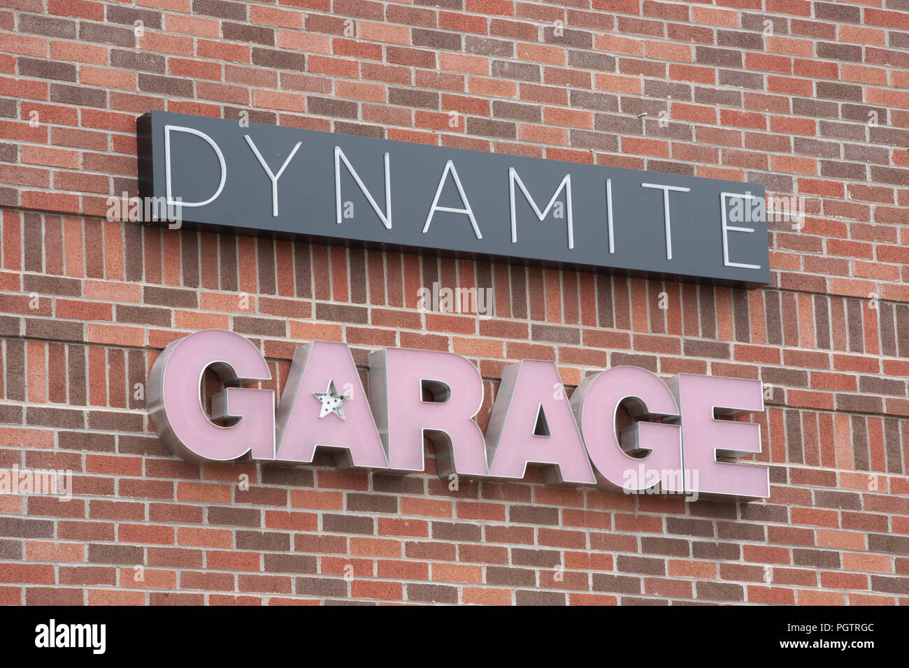 Dartmouth Canada July 24 2016 Dynamite Garage Clothing Store