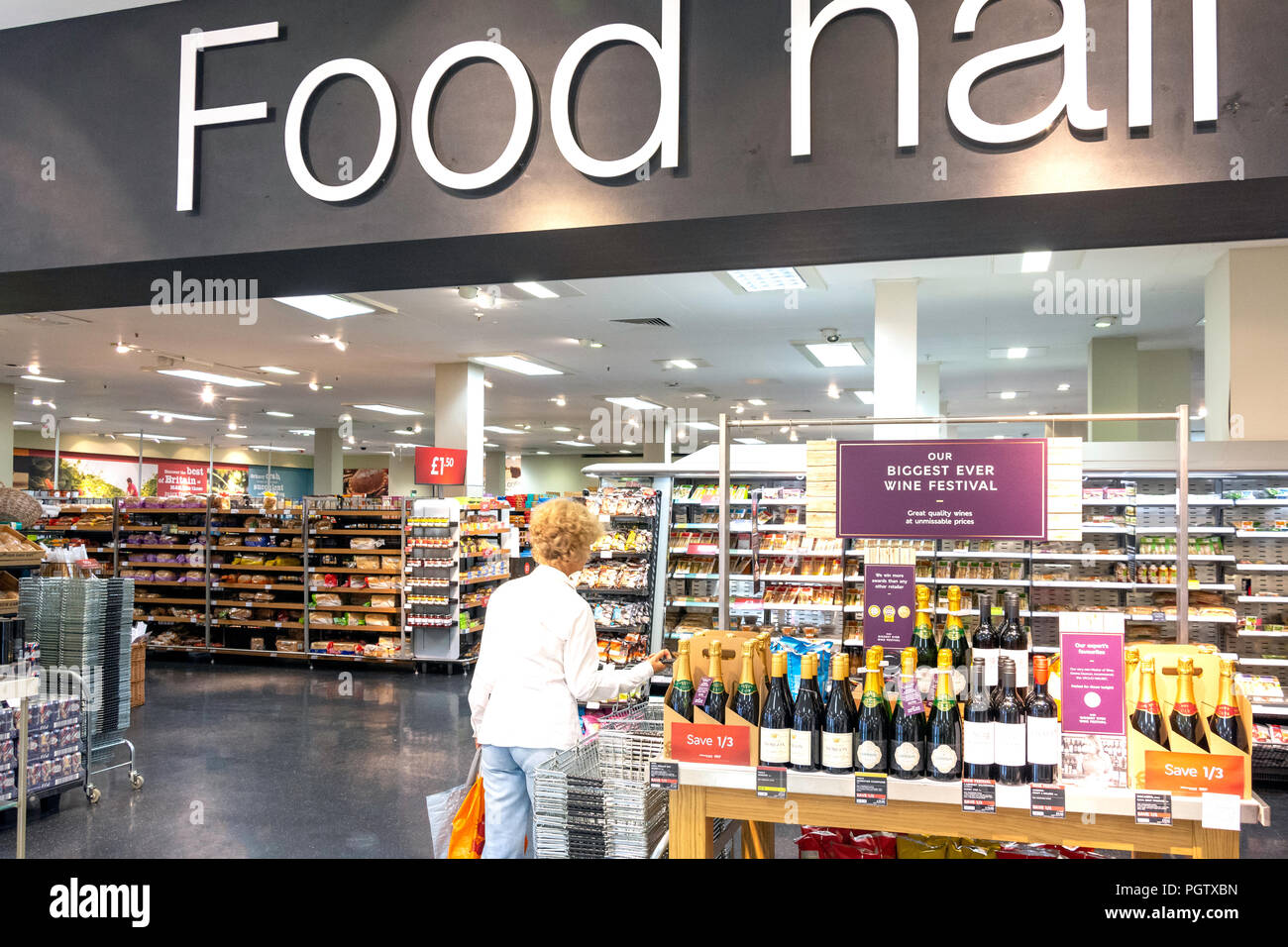 46c26708e1 Interior of Food Hall inside Marks & Spencers department store, Elmsleigh  Centre, High Street