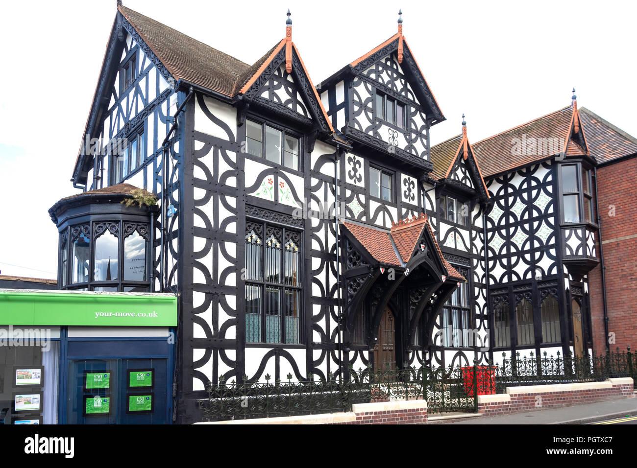 former 16th century 'Old Hop Pole Inn', New Street, Bromsgrove, Worcestershire, England, United Kingdom - Stock Image