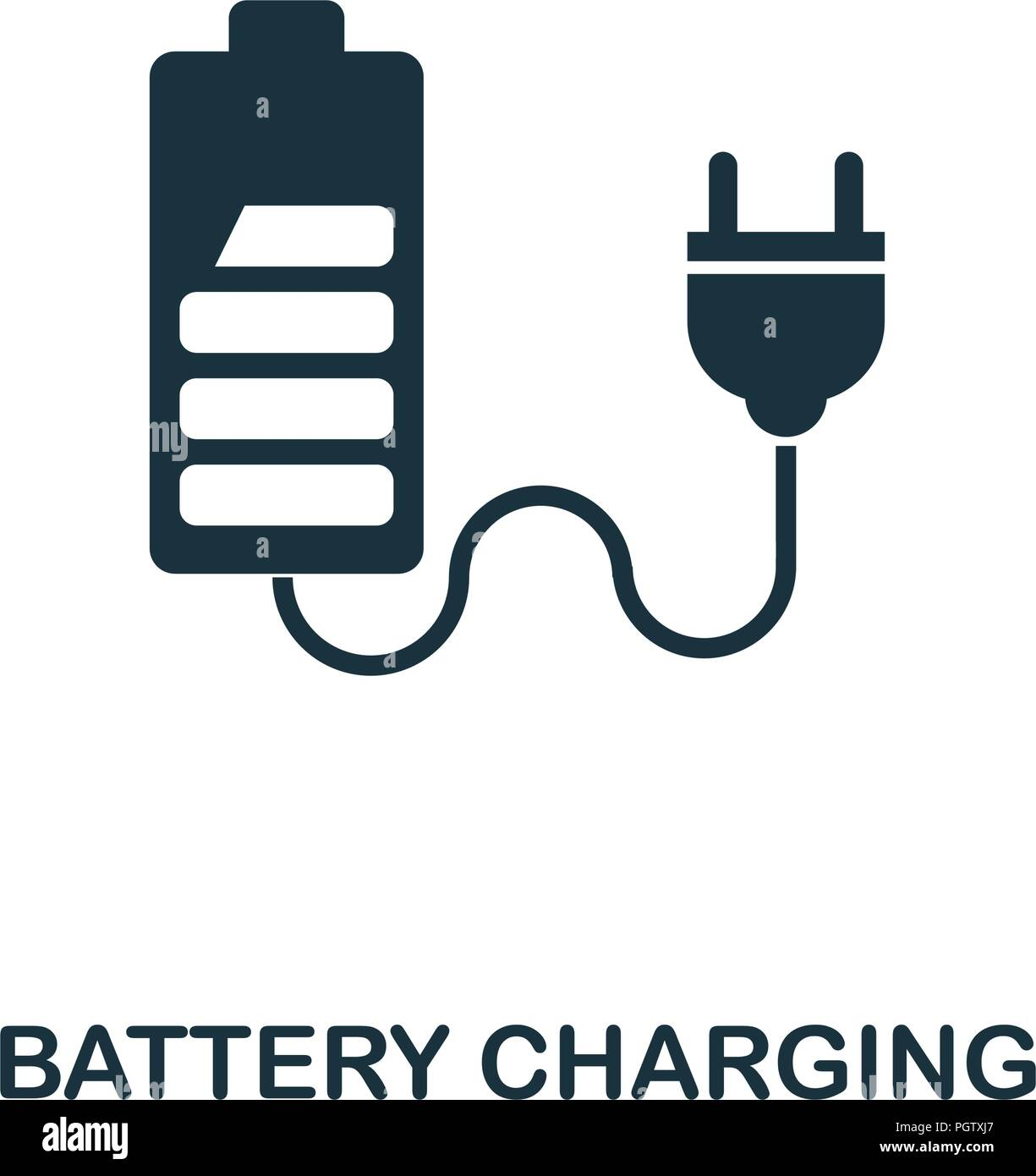 Battery Charging icon  Monochrome style design from power