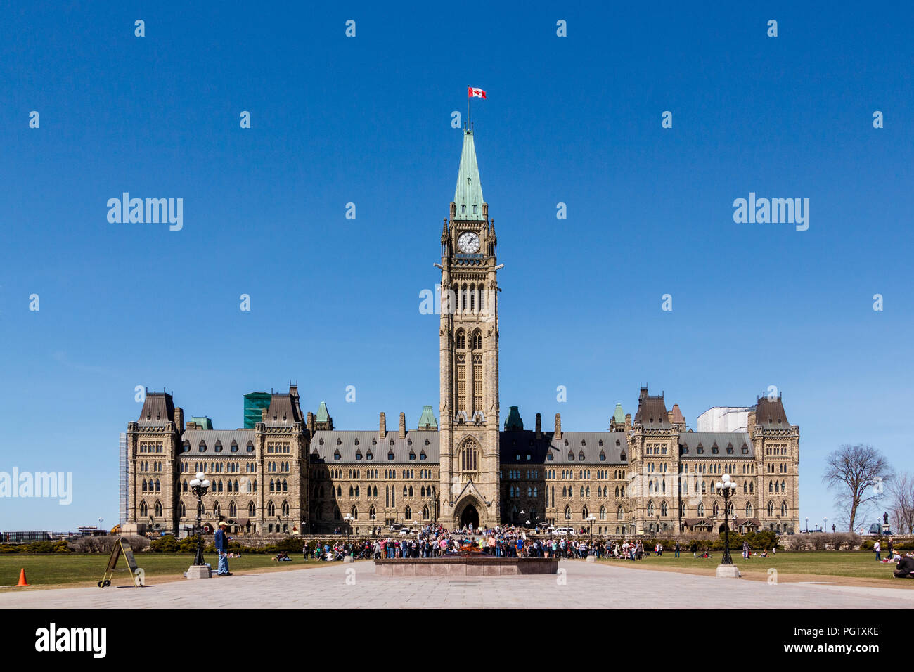 Canadian Parliament on a sunny clear day - Stock Image