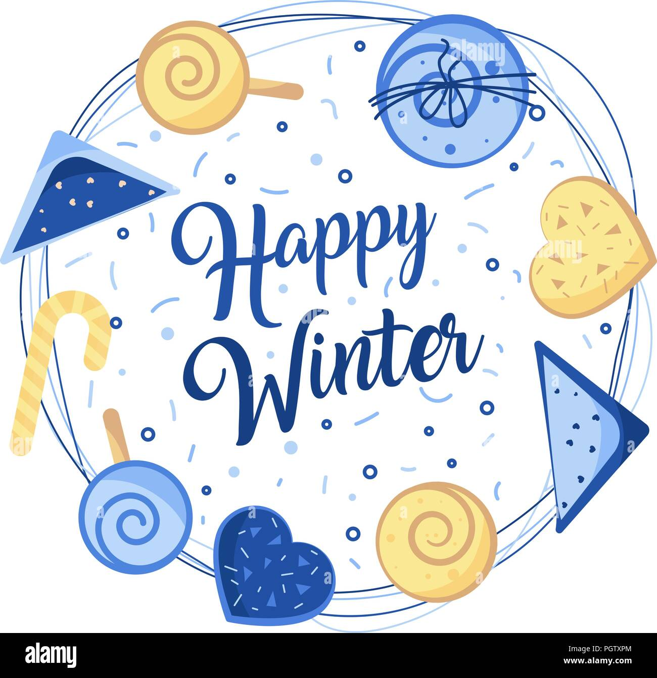 Winter emblems for invitation, greeting card, t-shirt, prints and posters. - Stock Vector