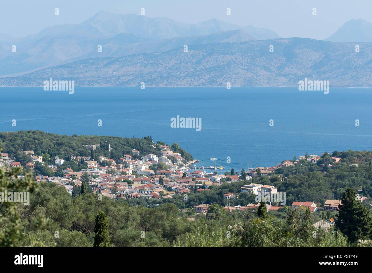 kassiopi, corfu, greece. - Stock Image